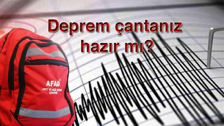 Deprem çantasında bulunması gerekenler nelerdir?